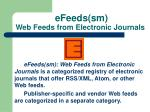 efeeds sm web feeds from electronic journals