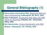 general bibliography 1
