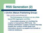 rss generation 2