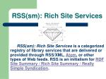 rss sm rich site services