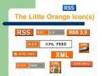 the little orange icon s