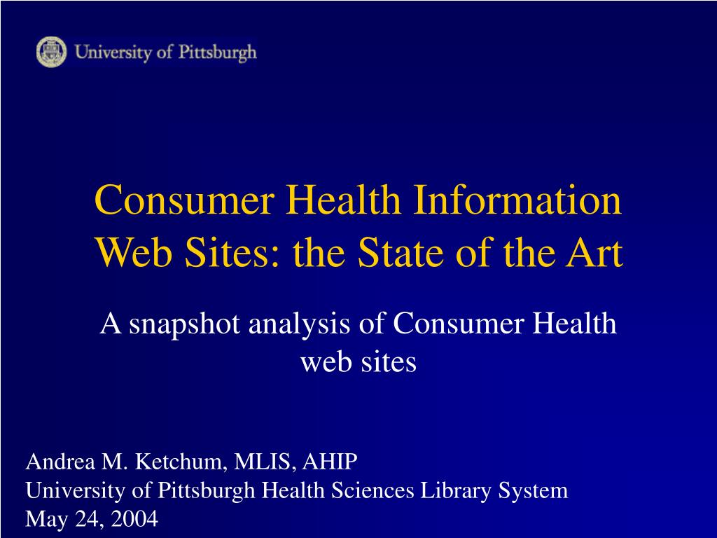 consumer health information web sites the state of the art l.