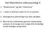 karl mannheims videnssociologi ii