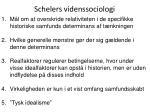 schelers videnssociologi