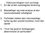videnssociologien som sociologi