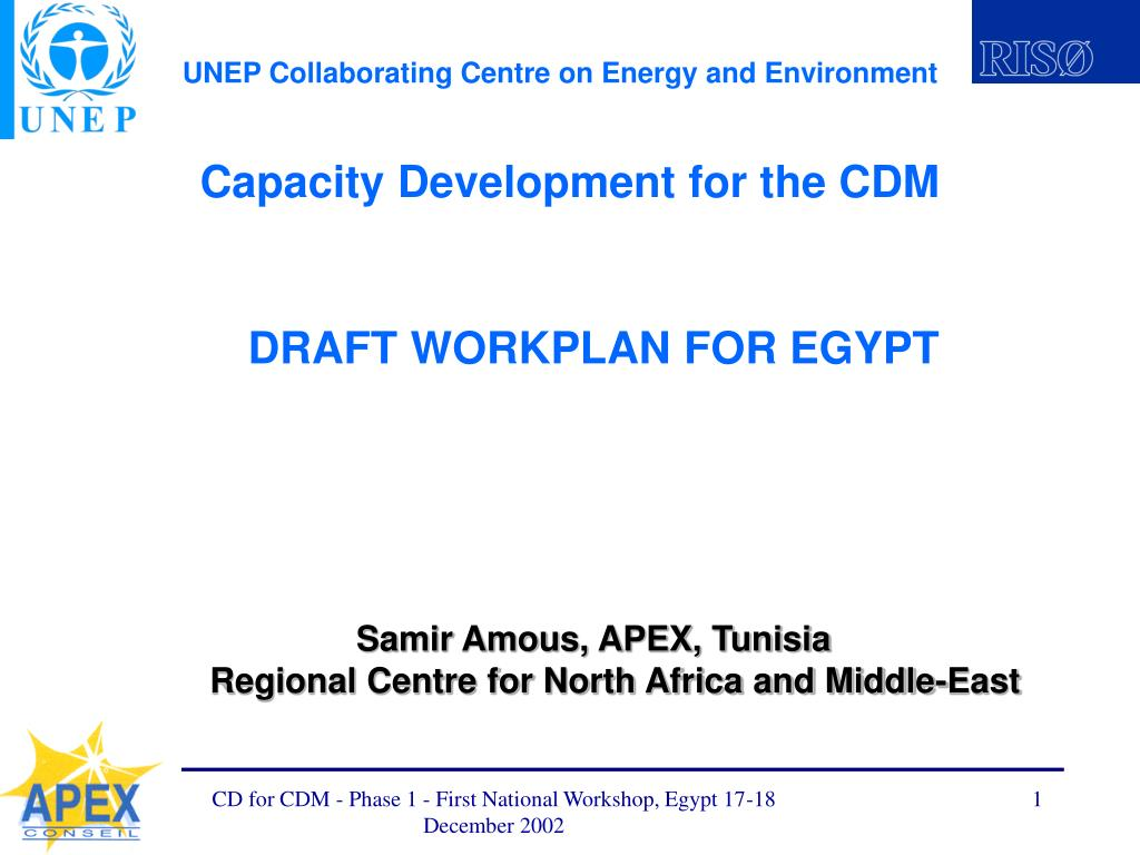 capacity development for the cdm l.