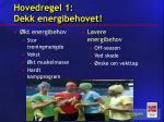 hovedregel 1 dekk energibehovet