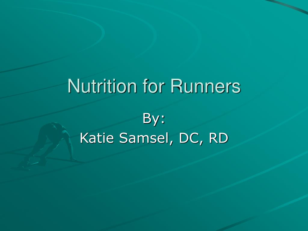 nutrition for runners l.