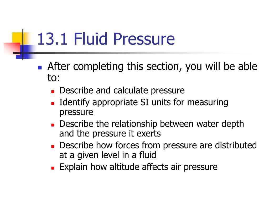 13 1 fluid pressure l.