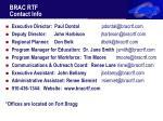brac rtf contact info
