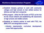 workforce demonstration program strateworrce demonstration program gies