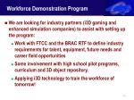 workforce demonstration program25