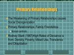 primary relationships
