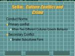 sellin culture conflict and crime