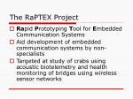 the raptex project