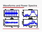 waveforms and power spectra