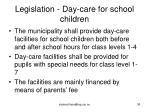 legislation day care for school children