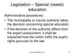 legislation special needs education33
