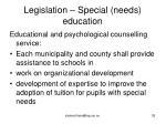 legislation special needs education35