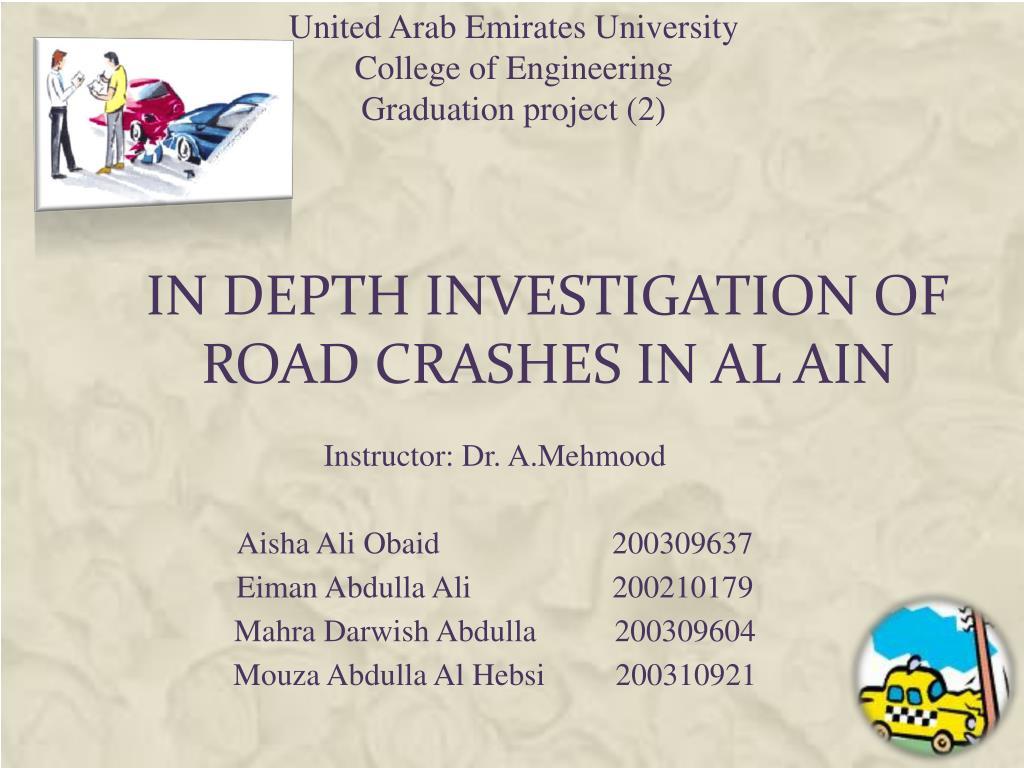 in depth investigation of road crashes in al ain l.