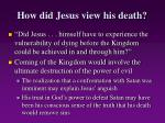 how did jesus view his death21