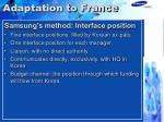 adaptation to france