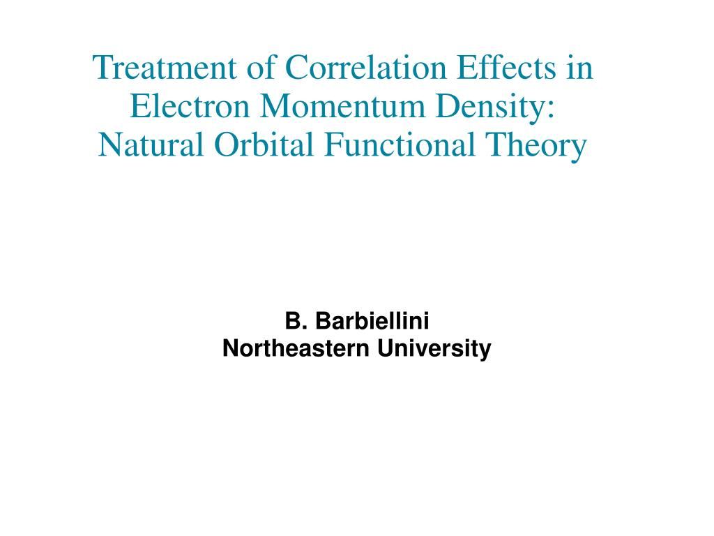 treatment of correlation effects in electron momentum density natural orbital functional theory l.