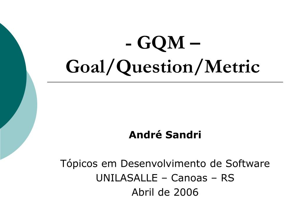 gqm goal question metric l.