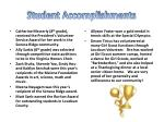 student accomplishments