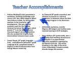 teacher accomplishments