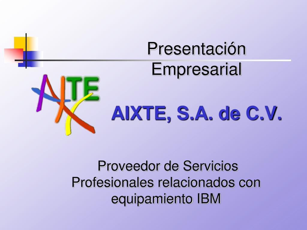 proveedor de servicios profesionales relacionados con equipamiento ibm l.