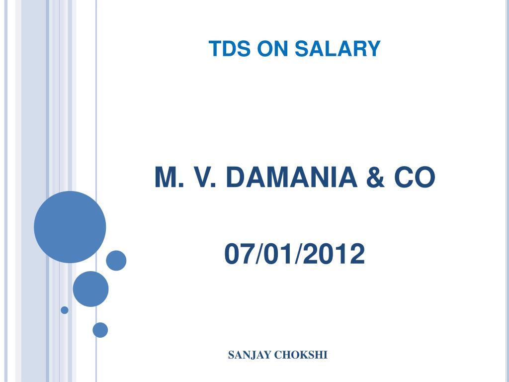 tds on salary l.