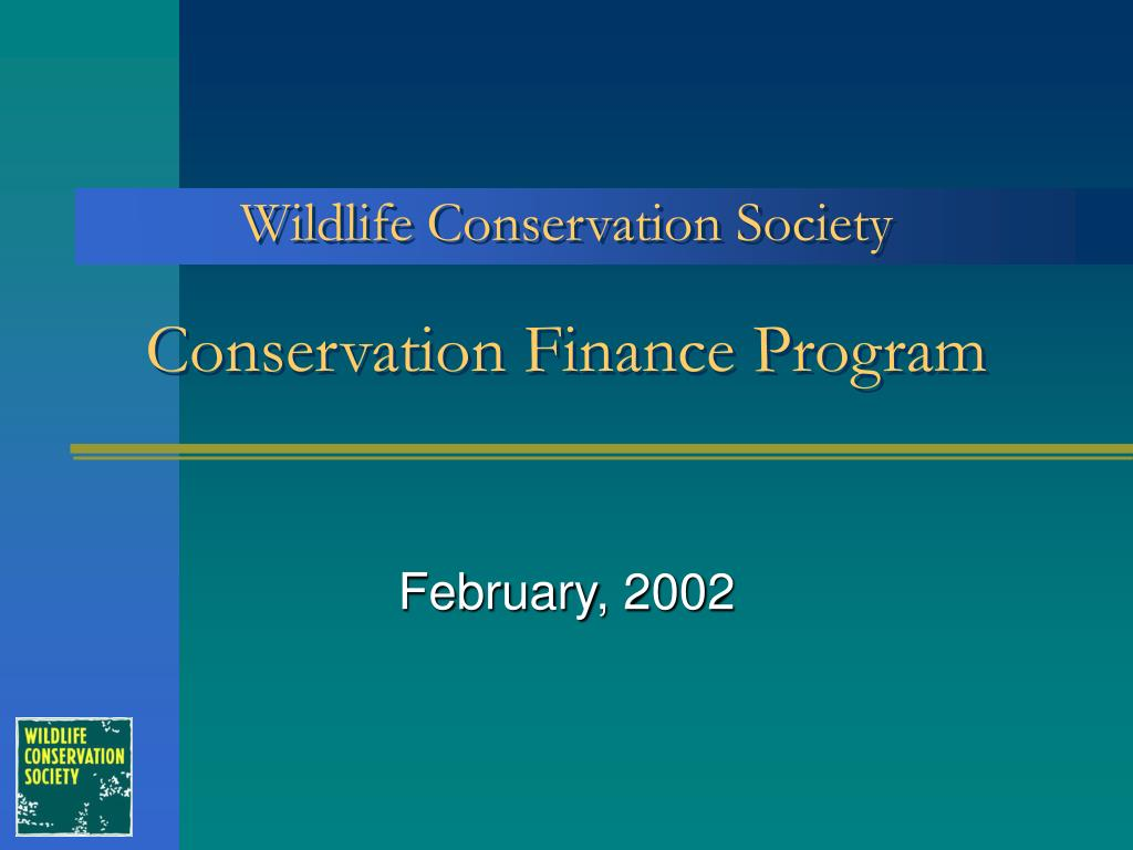 conservation finance program l.