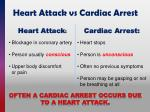 heart attack vs cardiac arrest