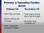 primary vs secondary cardiac arrest