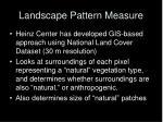 landscape pattern measure