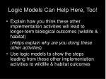logic models can help here too