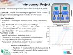 interconnect project