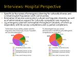 interviews hospital perspective