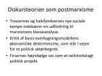 diskursteorien som postmarxisme
