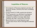 acquisition of manyara