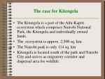 the case for kitengela