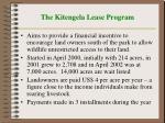 the kitengela lease program