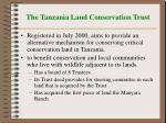 the tanzania land conservation trust