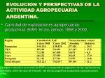 evolucion y perspectivas de la actividad agropecuaria argentina