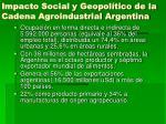 impacto social y geopol tico de la cadena agroindustrial argentina