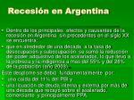recesi n en argentina