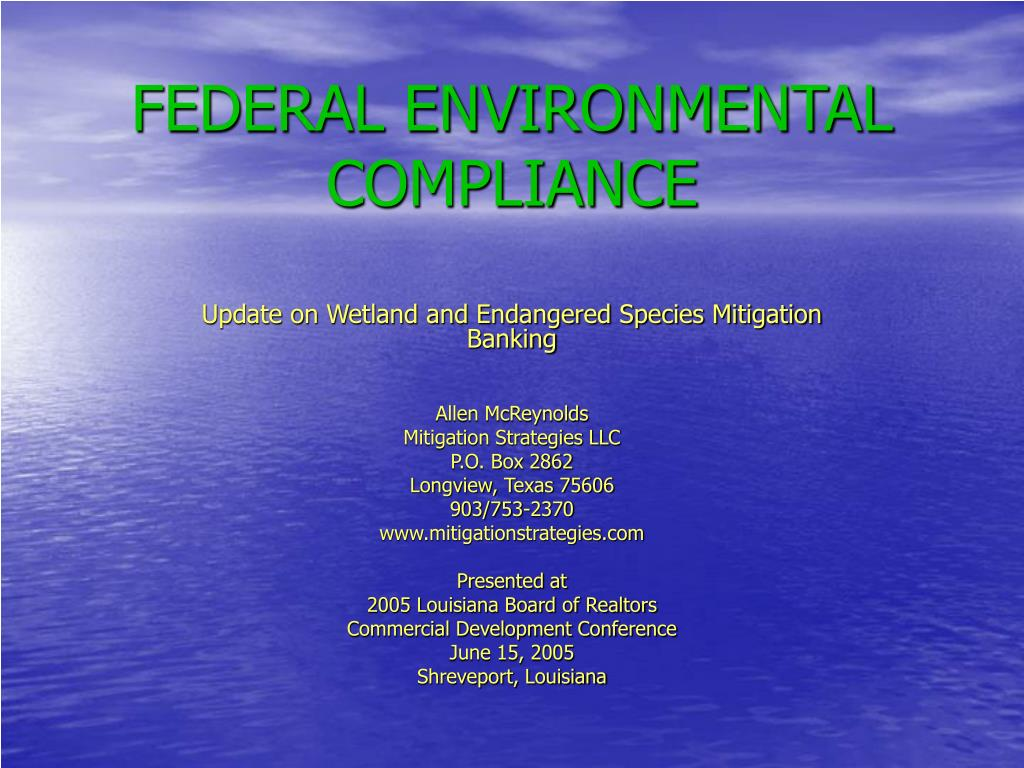 federal environmental compliance l.
