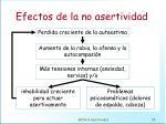 efectos de la no asertividad