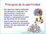 principios de la asertividad
